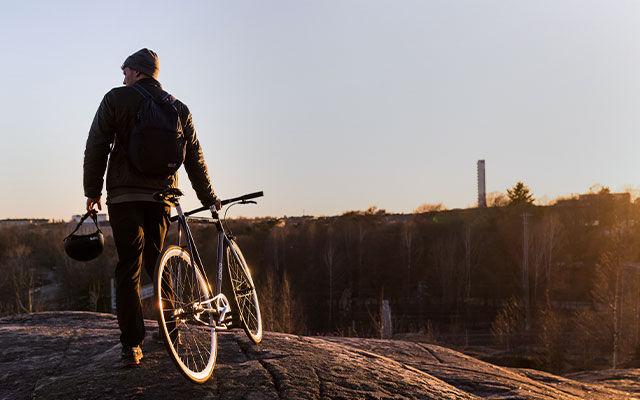 Men Biking