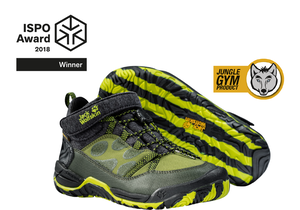 ISPO AWARD - JUNGLE GYM TEXAPORE MID K shoe takes the WINNER AWARD