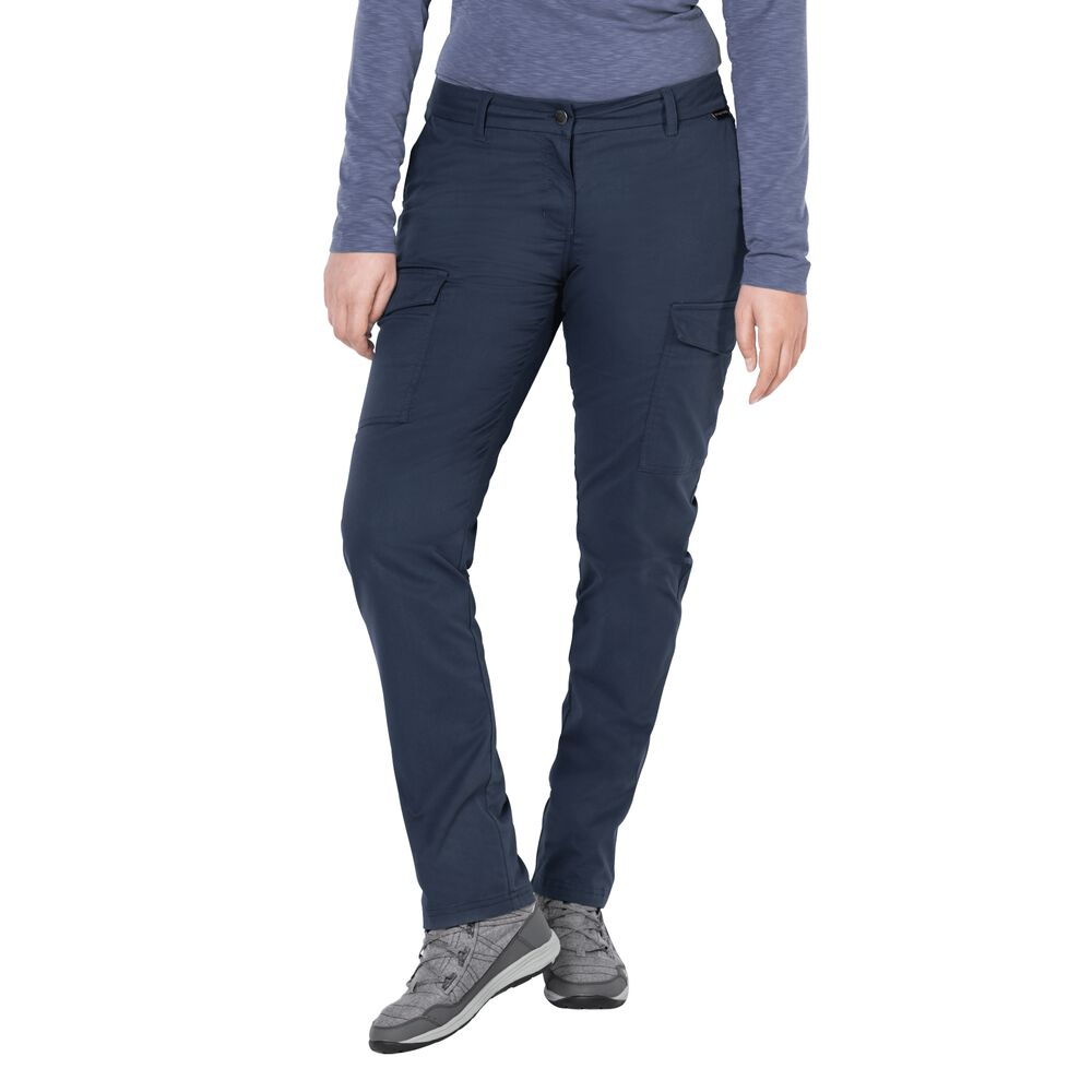 Jack Wolfskin Trousers women Liberty Cargo Pants 22 blue