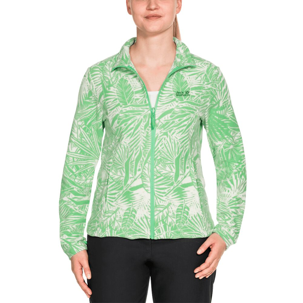Jack Wolfskin Fleece jacket women Kiruna Jungle Women XXL green