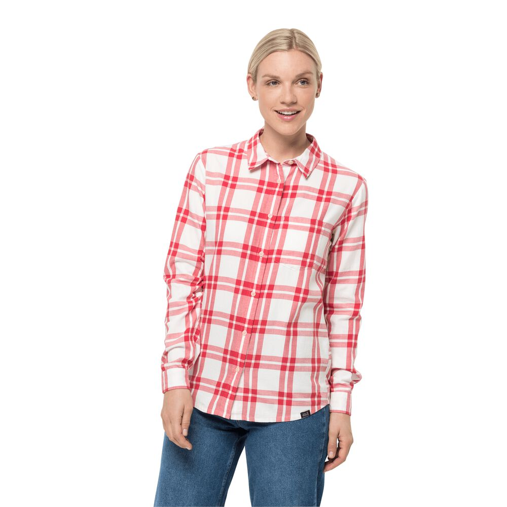 Jack Wolfskin Cotton flannel shirt women Passenger Shirt