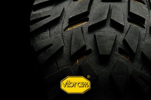 Premium-quality Vibram® sole banner