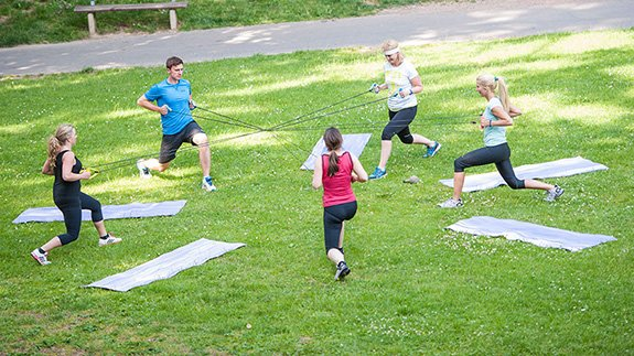 Outdoor fitness – fresh air for a clear head