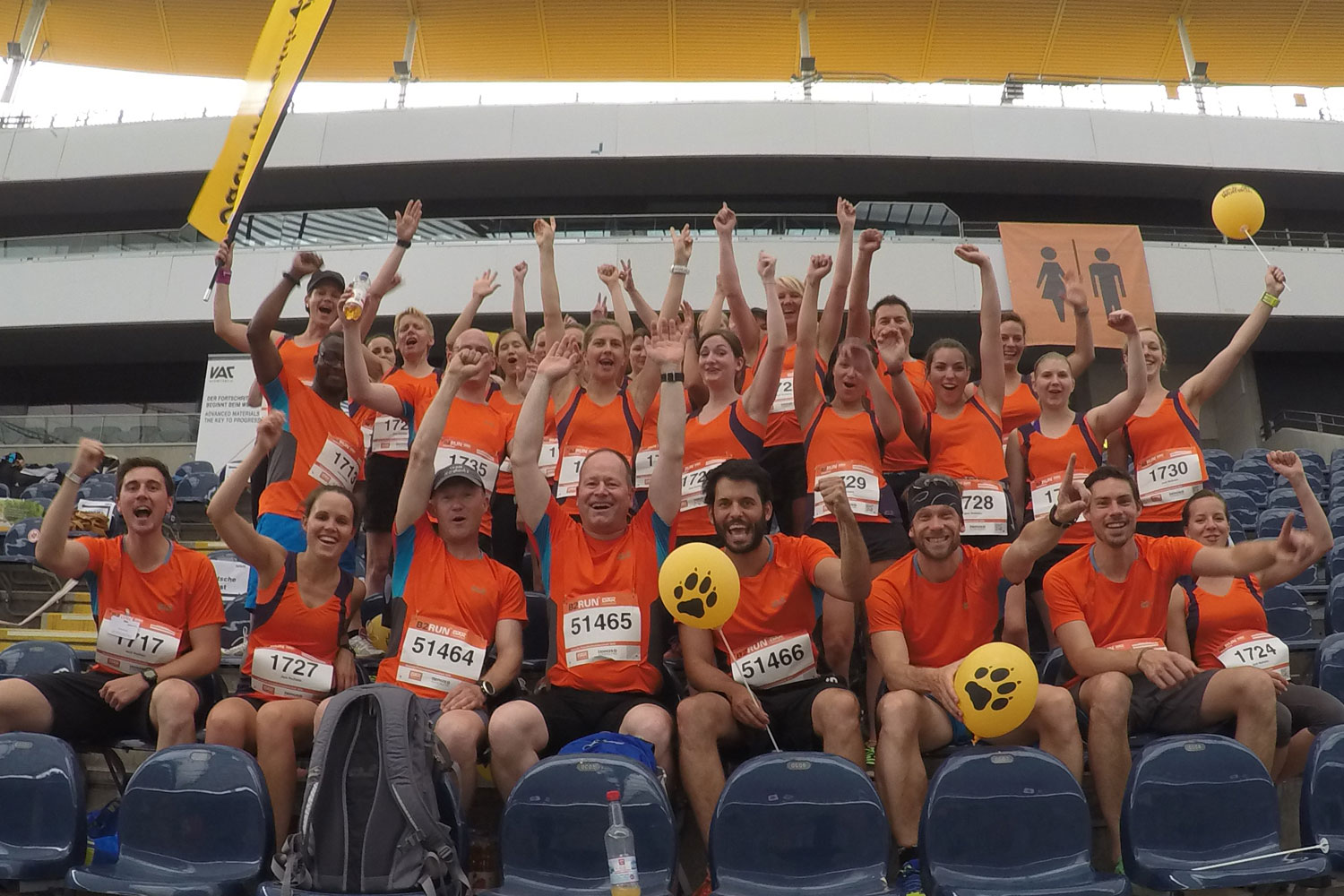 Top positions at B2RUN (German corporate running championship) 2015 in Frankfurt am Main