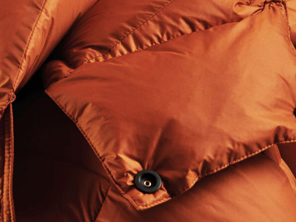 Close-up of a down jacket