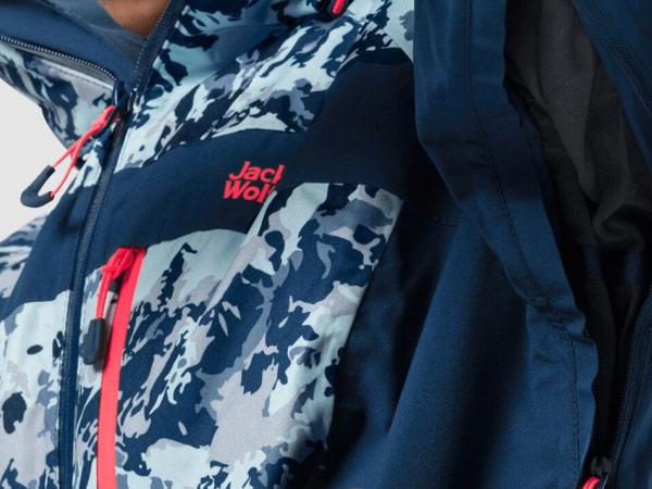 Close-up of a ski jacket