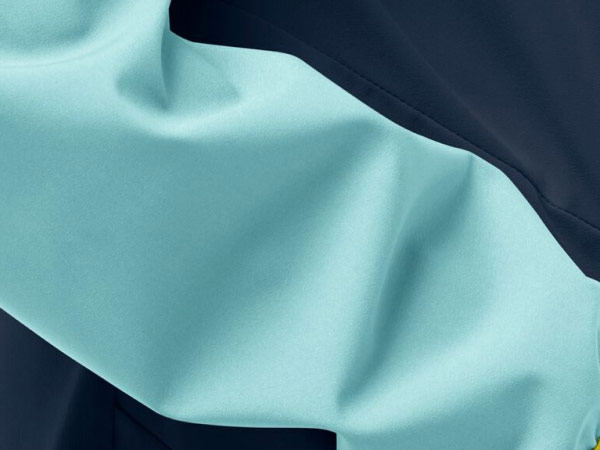 Close-up of a softshell jacket